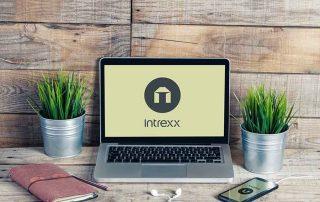 Laptop mit Intrexx