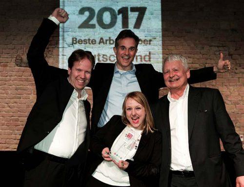 """Aus dem Ruhrpott auf das Berliner Siegerpodest: QuinScape GmbH ist bei """"Great Place to Work®"""" 2017 als einziges Ruhrgebiets-Unternehmen einer der 100 besten Arbeitgeber Deutschlands"""