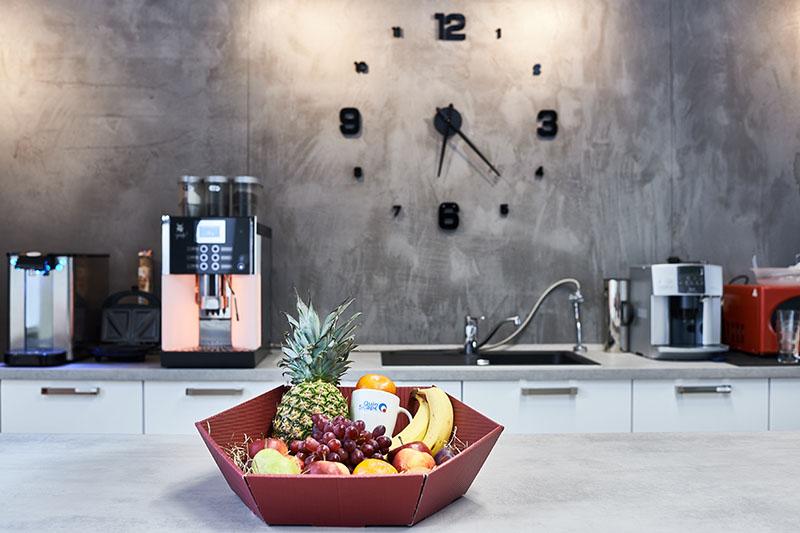 Obstkorb in der Küche bei QuinScape